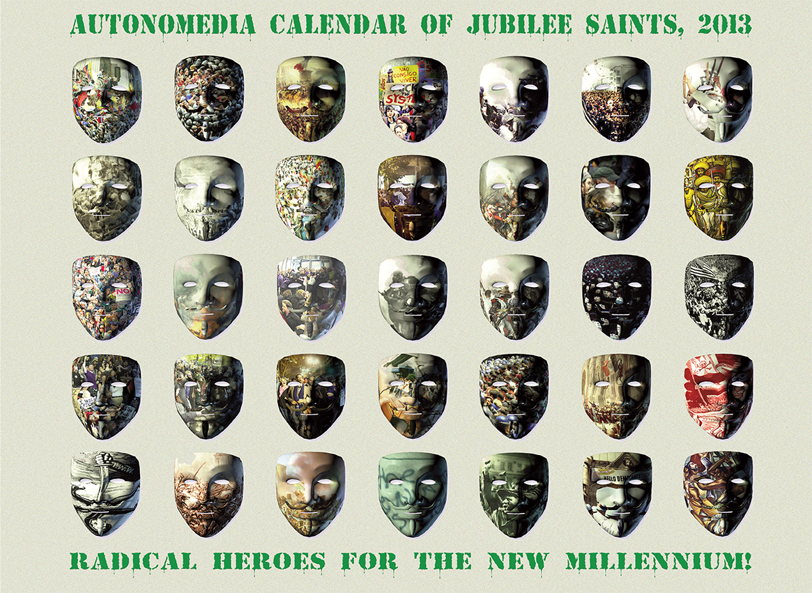 2013 Autonomedia Calendar of Jubilee Saints