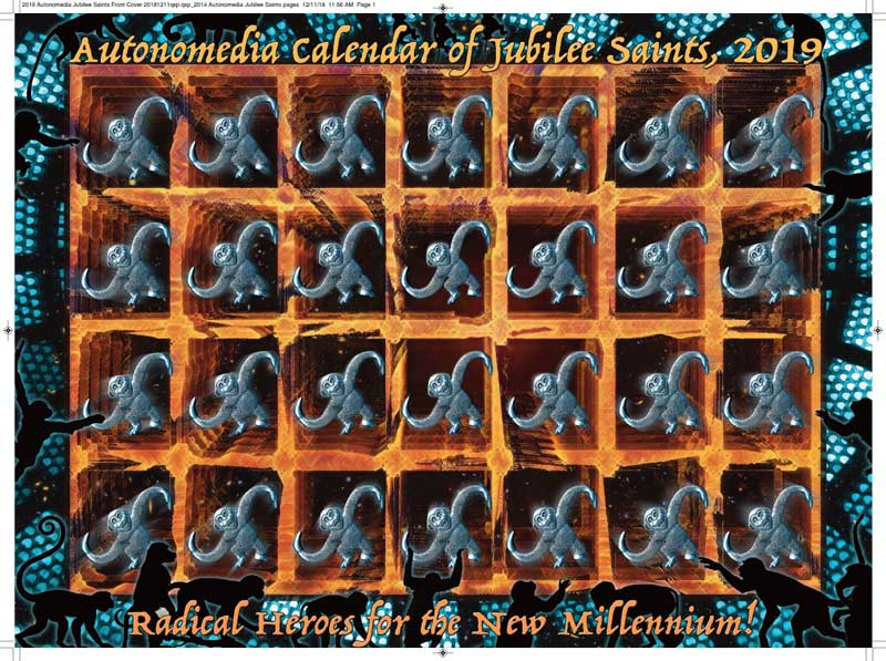 2019 Autonomedia Calendar of Jubilee Saints