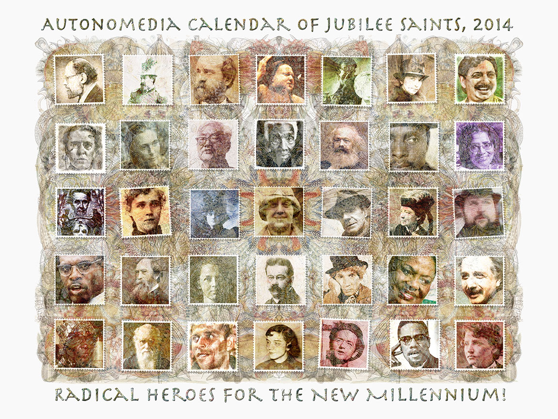 2014 Autonomedia Calendar of Jubilee Saints
