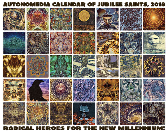 2018 Autonomedia Calendar of Jubilee Saints