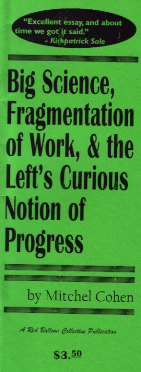 Big Science, Fragmentation of Work,