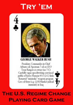 U.S. Regime Change Playing Cards